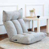 沙发床 布艺多功能单人网咖电脑床上懒人沙发飘窗榻榻米无腿可调节折叠椅 (把手式调节)