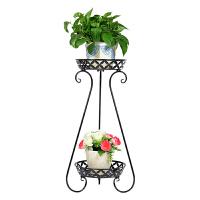 2个装欧式铁艺花架多层客厅落地阳台吊兰花盘架绿萝花架子花几盆栽收纳架储物架置物架