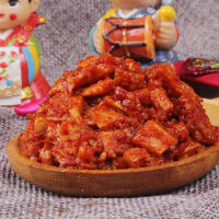 【包邮】金刚山 牛板筋 韩国泡菜牛板筋丁 香辣烧烤味 办公室零食 240g*1袋
