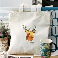 文艺帆布包单肩字母印花购物袋小清新手提包学生书包布袋