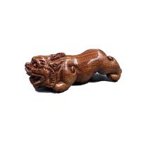 老挝黄花梨木原木料雕刻手把件手玩挂件文玩貔貅招财车挂 花梨木*素面貔貅