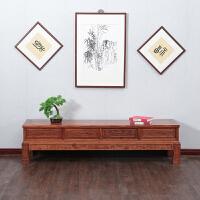 实木电视柜 仿古家具花梨木色中式客厅地柜 象头电视柜实木 象头电视柜 2.2米 整装