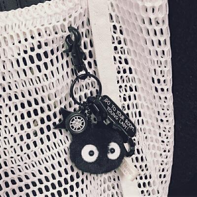 宫崎骏千与千寻龙猫煤炭煤球精灵钥匙扣女文艺小清新书包挂件饰品