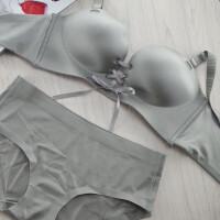 绑带无痕无钢圈文胸套装小胸聚拢1/2半杯加厚拉b内衣性感胸罩