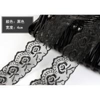 2018新品彩色蕾丝花边辅料宽2.5-4cm手工DIY芭比娃娃桌布裙子衣服装饰 黑色 一捆9米