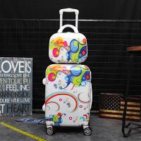 韩版拉杆箱女万向轮小清新行李箱儿童密码箱旅行箱20寸学生皮箱子