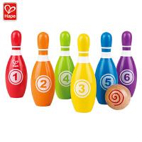 【16-24日3件3折】Hape彩虹儿童保龄球3-6岁儿童早教启蒙玩具运动户外玩具球类运动玩具E8348