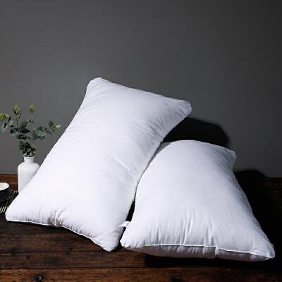 羽丝绒蓬松酒店枕芯 3D超细纤维柔软舒适单人枕头48*74cm 全棉羽丝绒枕一只价