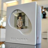皮纹木板封面相册8寸方版影楼儿童 宝宝成长册纪念册照片书定制 其它
