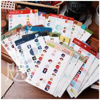韩国文具 可爱彩色防水姓名贴 宝宝名字贴 标签贴 书本贴纸
