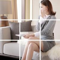 秋冬季新款韩版时尚百搭衬衣领拼接针织假两件套连衣裙女 潮