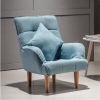 20190403012816060懒人单人沙发椅阳台卧室小沙发看书休闲折叠布艺迷你喂奶沙发椅子