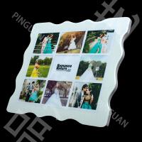 九宫格水晶相框摆台挂墙性洗加创意小清新宝宝照片韩版制作Q