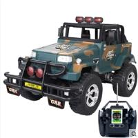 遥控吉普车儿童音乐车仿真越野车充电耐摔男孩电动车玩具