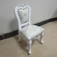 椅 欧式小椅子靠背椅沙发凳茶几椅小凳子换鞋凳美式实木矮凳