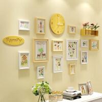 照片墙装饰相框墙相片框相框创意个性挂墙组合相片墙客厅简约现代 C款 原白搭配+森系元素画芯