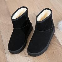 户外雪地靴女中筒秋冬2018新款韩版百搭棉鞋学生保暖加绒厚底短靴