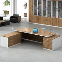 简约现代办公家具老板桌创意大班台办公桌椅组合总裁桌经理主管桌