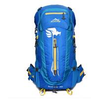 时尚50L带支架大容量男女专业户外旅行登山包双肩包 防水运动休闲背包