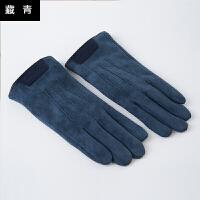 手套男冬保暖针织毛线触屏冬季保暖学生五指骑车女手套