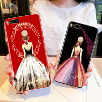 免邮 VIVO手机壳 手机套 新款镶钻全包保护壳 背景女孩X6 X7 X9 X20 plus保护套