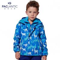 派克兰帝 男童女童儿童冬季户外印花三合一冲锋衣
