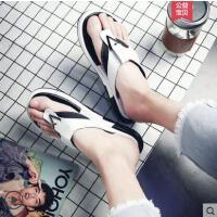 �鐾夏卸兑敉�款�W�t�r尚�鲂�男厚底拖鞋男新品��性男士�鲂��敉庑驴铐n版人字拖男潮