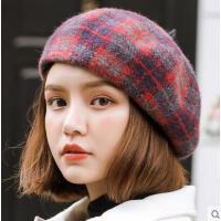 贝雷帽女网红同款时尚韩版日系百搭羊毛呢蓓蕾帽英伦复古画家南瓜帽报童户外运动新品