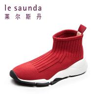 莱尔斯丹 专柜款欧美针织弹力袜子鞋踝靴女靴运动鞋9T42010