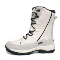 冬季雪地靴男女情侣户外防滑保暖百搭滑雪鞋短筒加厚防水大码棉鞋