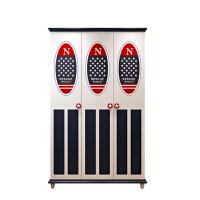 衣柜卧室三门柜子大衣橱1.2板式立柜衣帽柜立柜套房组合家具 图片色 3门