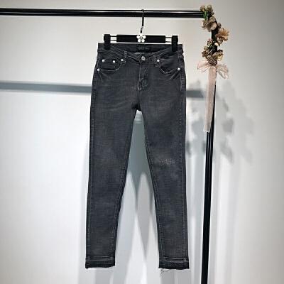 女装春季新款欧美风时尚水洗磨白弹力铅笔裤牛仔裤女潮 一般在付款后3-90天左右发货,具体发货时间请以与客服协商的时间为准