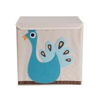 卡通玩具收纳箱有盖宝宝衣服收纳盒布艺环保折叠整理箱储物箱Q 有盖款 33*33*33.5