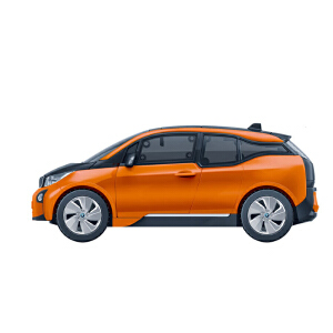 【当当自营】邦宝宝马I3系正版授权87粒汽车车辆模型益智拼装回力车积木玩具6802-2桔红色