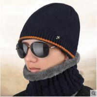 帽子男冬天保暖毛线帽加绒加厚双层包头帽韩版潮针织帽护耳帽