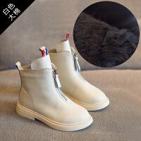 女童马丁靴2018秋冬季新款儿童靴子英伦风短靴加绒男童鞋皮靴