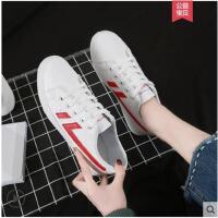 小白鞋女春新款帆布鞋百搭韩版学生平底基础板鞋网红智熏白鞋