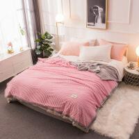 毛毯冬季加厚法兰绒毛巾被午睡毯子双人加厚珊瑚绒毯子保暖