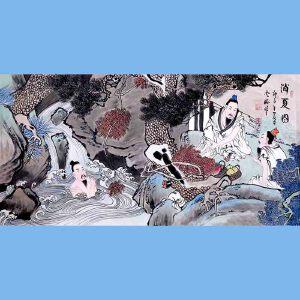 中国青年美术家协会常务理事,中国扇子艺术学会会员,中国山水画院专业画家,山东美术家协会会员,国家一级美术师高云鹏(消夏图)