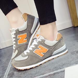 NBanao新百伦秋季网面透气女鞋韩版运动鞋新款N字鞋女跑步鞋学生休闲旅游鞋