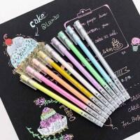 DIY相册日记本涂鸦水粉笔 学生划重点荧光笔标记笔 闪光高光笔