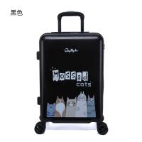 可爱旅行箱女拉杆箱万向轮小清新行李箱韩版学生卡通动物图案24寸