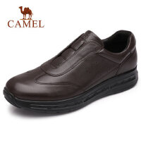 camel骆驼男鞋 秋季新品低帮青年休闲牛皮鞋套脚时尚运动健步鞋