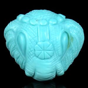 原矿高瓷高蓝绿松石象神背云 重1.93g