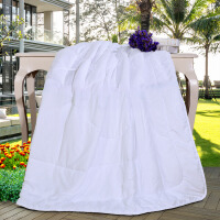 富安娜家纺馨而乐床上用品夏被空调被简约压花夏被 空调被-白色 1.8床(230*229cm)