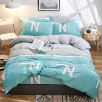 【官方旗舰店】纯棉四件套100%全棉床品1.8m床上用品宿舍被套床单三件套1.2米