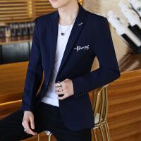 西装男士休闲韩版修身单上衣青年帅气小西装秋季学生西服外套潮流