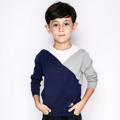 【领卷:79元选3】加菲猫男童针织衫 春新款套头打底线衫GGM17623