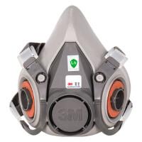 3M口罩防尘防毒面具防甲醛喷漆防雾霾PM2.5面罩 【面罩主体】6200高级橡胶半面罩