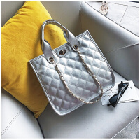 大包包季新款女包时尚菱格链条包潮大容量单肩包手包